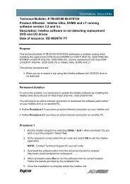 Technical Bulletin: # TB-00100-00-070724 Product ... - IP CCTV GmbH