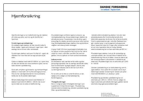 danske forsikring indbo