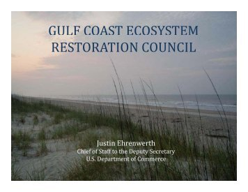 GULF COAST ECOSYSTEM RESTORATION COUNCIL