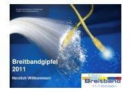 Eröffnung des Breitbandgipfels Hessen 2011 und Vorstellung der ...