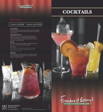 Cocktail Menu - Manchester Airport