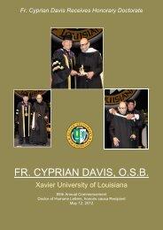 FR. CYPRIAN DAVIS, O.S.B. - Xavier University of Louisiana