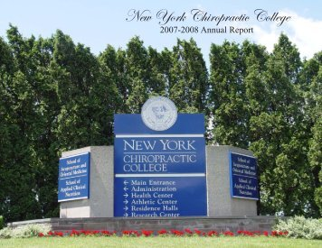 Annual Report 2007-2008 - New York Chiropractic College