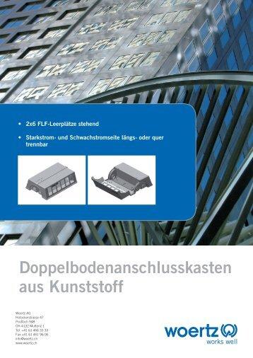Doppelboden-Anschlusskasten aus Kunststoff PVC-DAK - Woertz AG