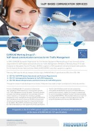 EUROCAE Working Group 67 - VoIP-based ... - Frequentis