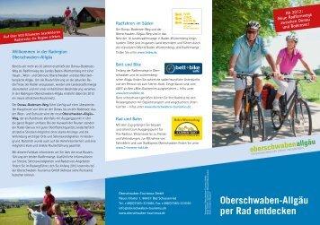 Oberschwaben-Allgäu per Rad entdecken - Oberschwaben-Tourismus