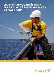 Stark in Sachen Logistik - Solarkauf