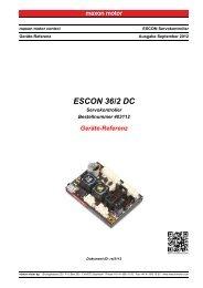 ESCON 36/2 DC Geräte-Referenz - Maxon Motor
