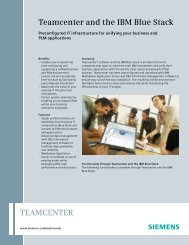 Teamcenter and the IBM Blue Stack - Siemens PLM Software