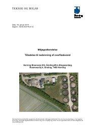 Miljøgodkendelse og tilladelse til - Herning Kommune