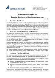 vorläufigen Praktikumsordnung - Universität Paderborn