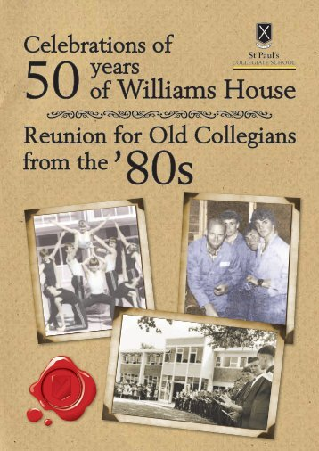 50 years of Williams House - St Paul's Collegiate School