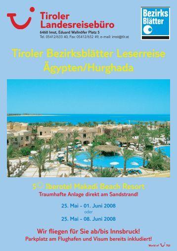 Tiroler Bezirksblätter Leserreise Ägypten/Hurghada - TUI ReiseCenter