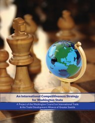 An International Competitiveness Strategy for Washington State