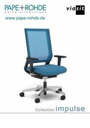 Prospekt Design Bürostuhl Viasit Impulse - Pape+Rohde