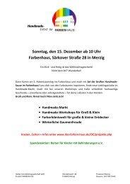 Sonntag, den 15. Dezember ab 10 Uhr ... - Das Farbenhaus