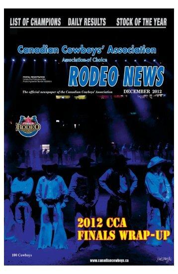 pdf version of cca news december edition - Canadian Cowboys ...