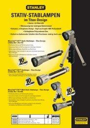 STATIV-STABLAMPEN im Titan-Design - Reiter Werkzeuge