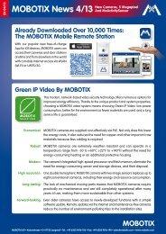MOBOTIX News 4/13 New Cameras, 5 Megapixel And ...