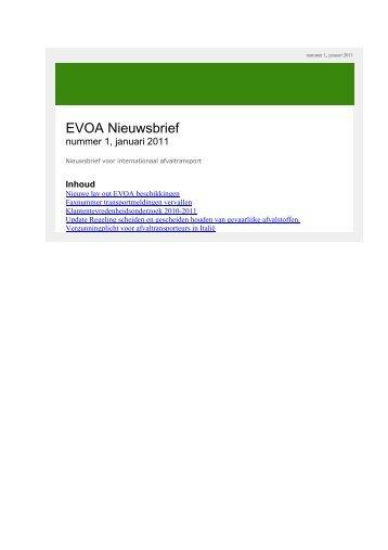 EVOA Nieuwsbrief - Inspectie Leefomgeving en Transport