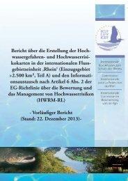 Bericht über die Erstellung der Hoch- wassergefahren- und ... - IKSR