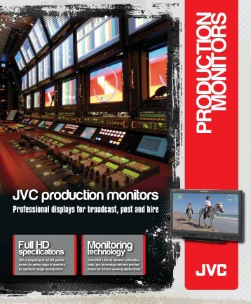 PRODUCTION MONITORS - JVC