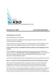 Newsletter Juni 2009 IG pro Kantonsspital Olten