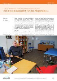 «Ich bin ein Spezialist für das Allgemeine» - Schweizerische ...