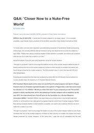 Q&A: 'Closer Now to a Nuke-Free World' - People's Decade for ...
