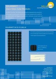 SOLARWATT Glass-Glass Solar Modules