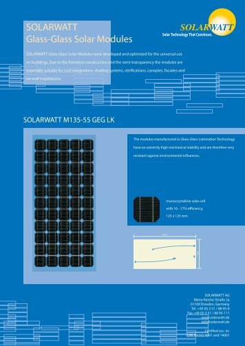 SOLARWATT Glass-Glass Solar Modules