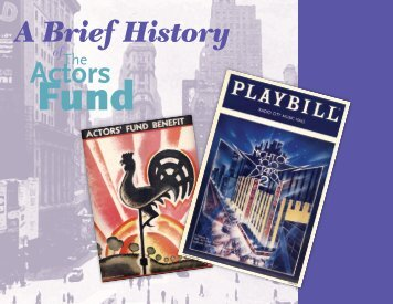 Graphic Timeline - The Actors Fund