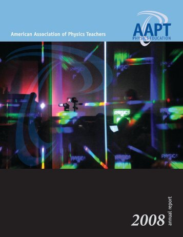American Association of Physics Teachers 2008 annual report
