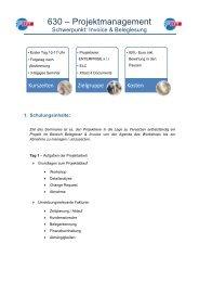 Vorlage Seminarbeschreibung - CFT