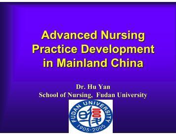 Advanced Nursing Practice Development in Mainland China