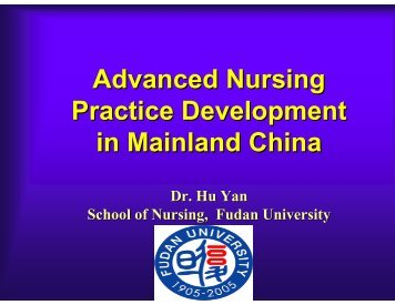 Advanced Nursing Practice Development in Mainland China