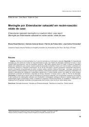 Meningite por Enterobacter sakazakii em recém-nascido