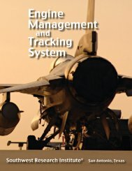 Engine Management and Tracking System - Southwest Research ...