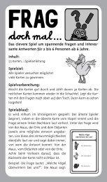 Frag doch mal... Das Kartenspiel Set 2-51256 - Schmidt Spiele