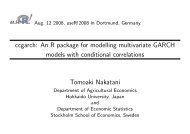 ccgarch: An R package for modelling multivariate GARCH