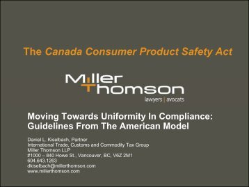 to view the presentation - Miller Thomson