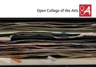 Guide to OCA booklet - Open College of the Arts