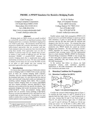 A PPSFP Simulator for Resistive Bridging Faults - TAMU Computer ...
