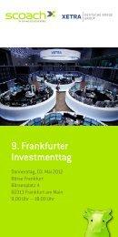 9. Frankfurter Investmenttag - Scoach Europa AG