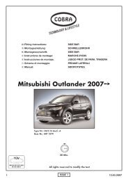 Mitsubishi Outlander 2007 - Cobra-SOR