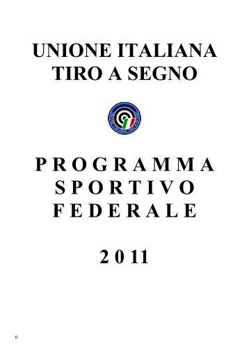 unione italiana tiro a segno programmasportivofede rale 2 0 11
