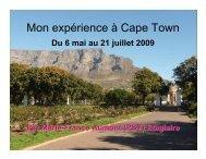 Mon expérience à Cape Town - Faculty of Social Sciences