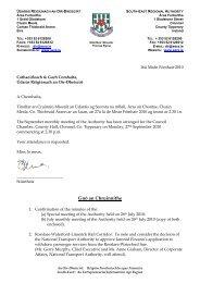 Agenda Sept 2010 - South-East Regional Authority