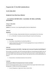 Programm der 17. Eine Welt Landeskonferenz 15./16. März 2013 ...