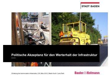 Politische Akzeptanz für den Werterhalt der Infrastruktur (pdf